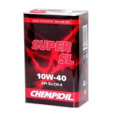 CHEMPIOIL Super SL 10w40 А3/В3 полусинтетика 4л металл (мотор.масло)=