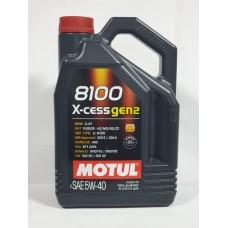 MOTUL 8100 X-cess 5w40 GEN2 синтетика 5л (мотор. масло)=