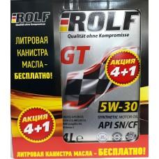 ROLF  GT 5w30 SN/CF синтетика АКЦИЯ 4л+1л (мотор.масло)=