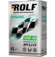 ROLF Dynamic 10w40 SJ/CF полусинтетика 4л (мотор.масло)=