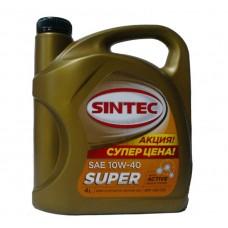 SINTOIL (Sintec) Супер 10w40 SG/CD полусинтетика 4л (мотор.масло)=