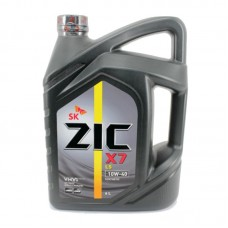 Масло ZIC X7 LS 10w40 бензин синтетика 6л=