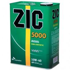 Масло ZIC 5000 10w40 CI-4 полусинтетика Дизель 4л=