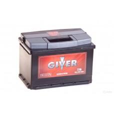 Аккумулятор GIVER 77 А прям поляр=